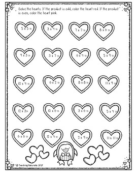 Free Valentine's Day Math Printables(2nd/3rd grade)
