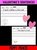 Free Valentine's Day Simple Sentences - Kindergarten, First Grade, Peppy Pencil
