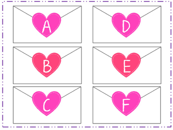 Free Valentine's Day upper and lower case matching printable