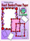 Valentine's Heart Frame Paper Clipart