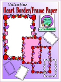 Valentine's Heart Frame Paper Clipart