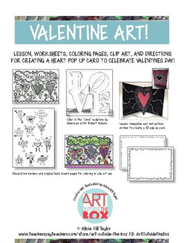 Heart art, lesson, coloring pages, borders, and original art