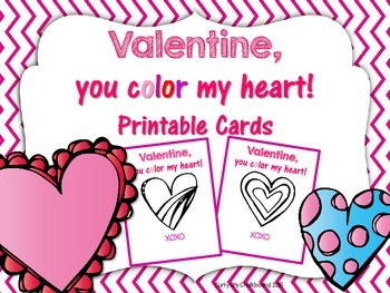 free valentine you color my heart printable valentine cards