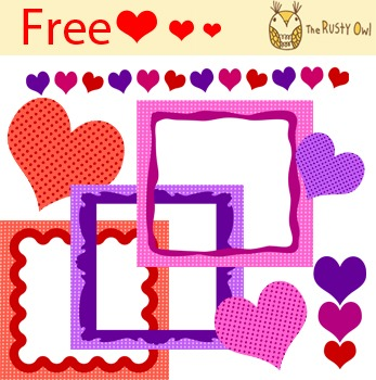 Free Valentines Clips and Frames