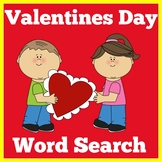 Valentines Day Word Search | Worksheet Activity | 1st 2nd