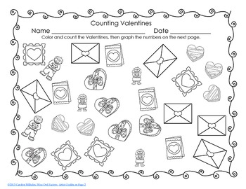 Free Valentine's Day Bookmarks, Reading Chart, Count and Graph
