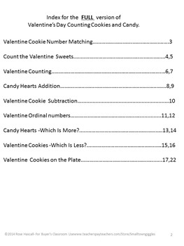 Free: Valentine's Day Counting