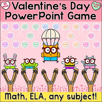 Valentine's Day Review Game for Any Subject - SmartBoard Game