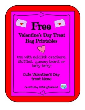 Valentine's Day Treat Bag Ideas - Printables