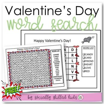 FREE! Valentine's Day Word Search {Differentiated}