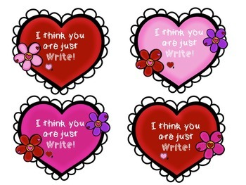 Free Valentines name tags and student gift tags