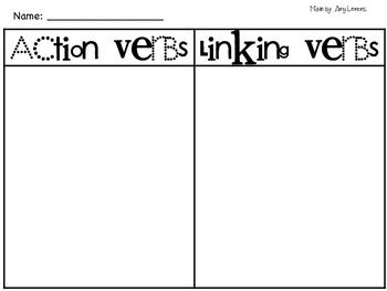 Free Verb Activities by Amy Lemons | Teachers Pay Teachers