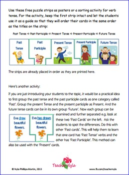 Verb Tense Poster Puzzles - Free