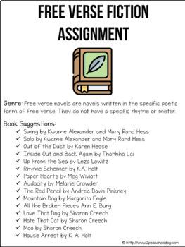 Free Verse Book Report