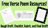 Free Verse Poem Resources! Rough Draft, Checklist, Rubric,