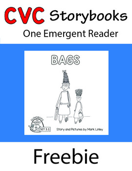 Freebie - 1 Emergent Reader ~ SET 3.1 Book 1 ~  BAGS