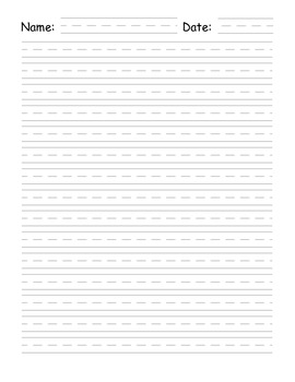 Free Vertical Writing Paper