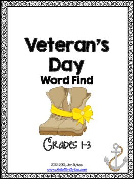 Veteran's Day Freebie