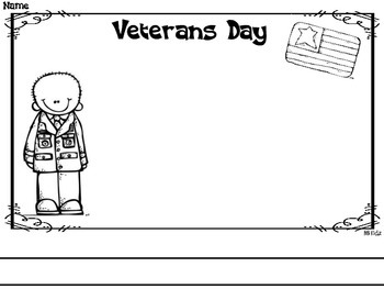 Free Veterans Day writing paper