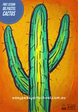 "Free Visual Arts Lesson: ""Cactus""  by Easy Peasy Art School"