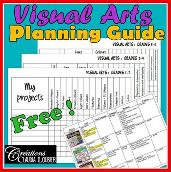Free Visual Arts Planning Guide for your Art Lessons Plan
