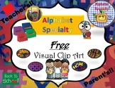 Alphabet Specialty's *Free Clip Art* Visual Labels