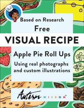 Free Visual Recipe: Apple Pie Roll Ups: Autism:Special Ed