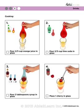 Free Visual Recipe: Shirley Temple: For Youths with Autism/Special Ed Classroom
