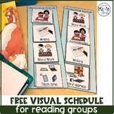 Free Visual Schedule for Reading Groups