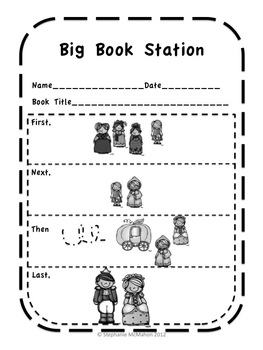 Free Visual aids for Literacy Stations Freebie