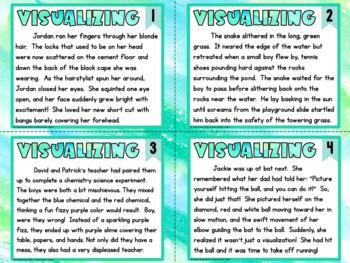 Free Visualizing Reading Skill Task Cards Mini-Set