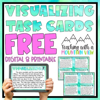 Free Visualizing Reading Skill Task Cards Mini-Set