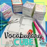 Free Vocabulary Cube Activity