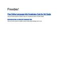 Free Vocabulary Quiz Online