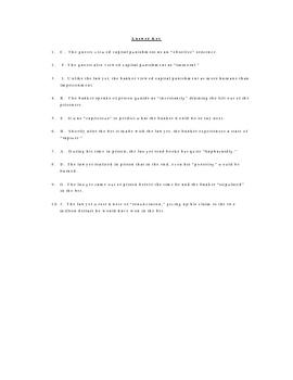 Free Vocabulary Quiz worksheet for The Bet by Anton Chekhov