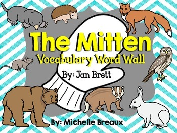 Vocabulary Word Wall Cards for The Mitten by Jan Brett