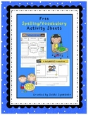 Free Vocabulary/Spelling Activity Sheets