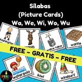 Free Wa We Wi Wo Wu Picture Cards in Spanish (gratis tarjetas fichas con fotos)