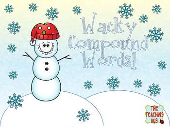 Free Wacky Snowman Compound Words