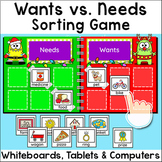 Free Game - Wants and Needs Sorting Game for SmartBoards, Tablets & Computers