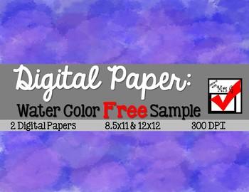 Free Water Color Digital Paper