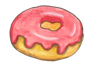 Free Water Color Donut Clipart for commerical use - Check out my work