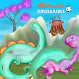 Free Watercolor Dinosaur Scene ClipArt