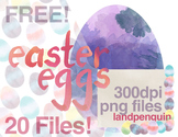 Free Watercolor Easter Eggs