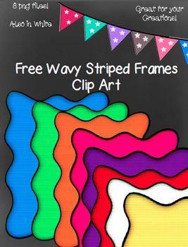 Free Wavy Frames Clip Art ~ 8 png images
