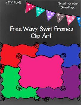 Free Wavy Swirl Doodle Frames