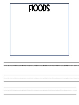 Free Weather Booklet with Handwriting Lines