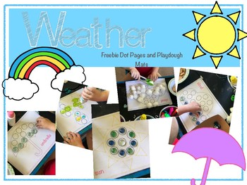 Free Weather Dot Pages and Playdough Mat