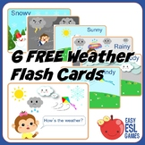 Free Weather Flash Cards