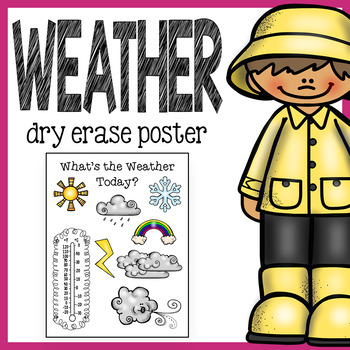 Free Weather Poster for Morning Meeting